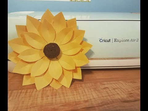 Paper sunflower tutorial video with Cricut