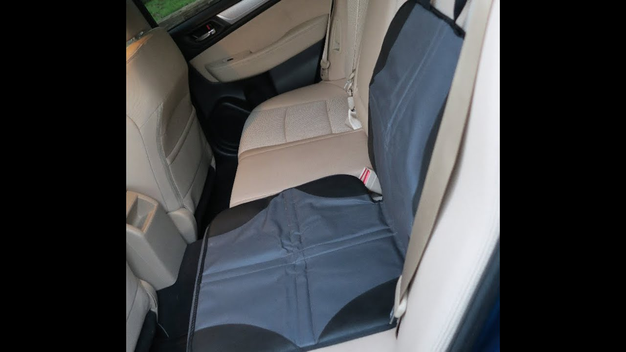 Ohuhu Baby Child Car Seat Protector Cover Mat With Organizer - YouTube