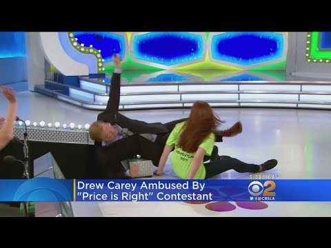 Excited 'Price Is Right' Almost Knocks Host Drew Carey Off Stage