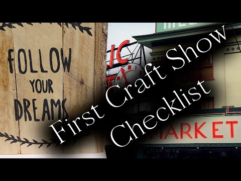 What do I need for my first craft show checklist - Craft fair tips for beginners