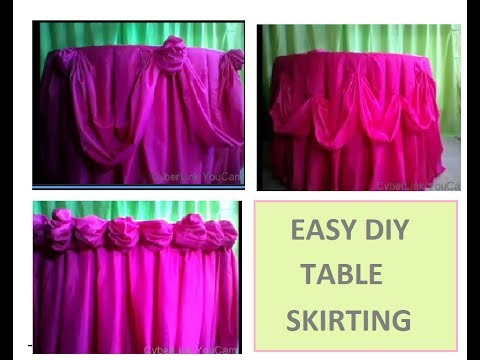 How To Do Basic Table Skirting For Birthday Table Set Up Or Wedding Table Set Up / GRACEVI