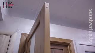 Обзор межкомнатной двери из массива сосны Модель 1, Вудрев - Sandverlux.by