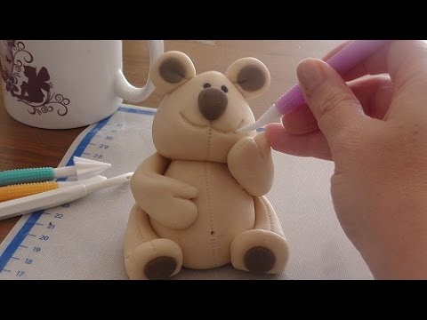 3d fondant teddy b r tutorial how to make a fondant teddy. Black Bedroom Furniture Sets. Home Design Ideas