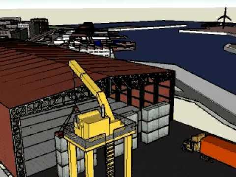 warehouse & wind turbines san antonio port chile.avi