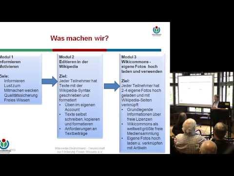 """Dr. Elvira Schmidt (Wikimedia Deutschland):""""Silberwissen -- Wissen in der Wikipedia teilen"""""""
