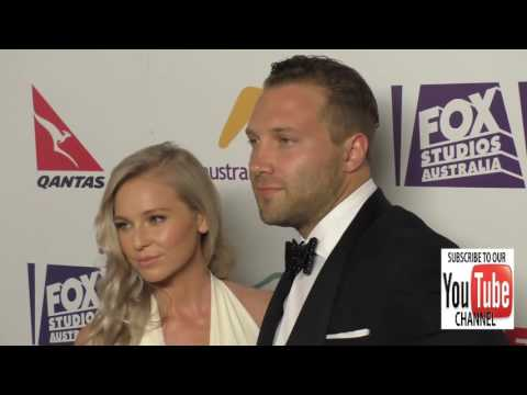 Jai Courtney and Mecki Dent at the Australians In Film's 5th Annual Awards Gala at NeueHouse in Holl