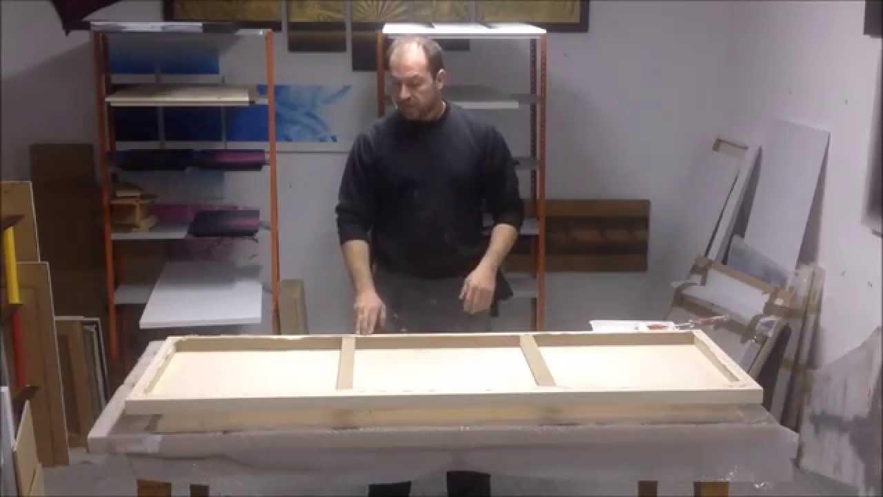 Como imprimar un lienzo youtube - Como enmarcar un lienzo ...