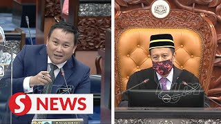 'I didn't see as I have an eye problem', says Dewan Speaker