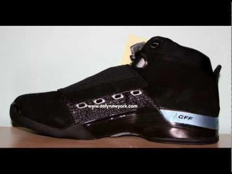 ff29f402227 Nike Air Jordan XVII 2008 Retro Suede Black 17/6 Pack - YouTube