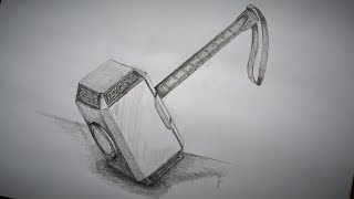 Mjölnir How to draw Thor's Hammer