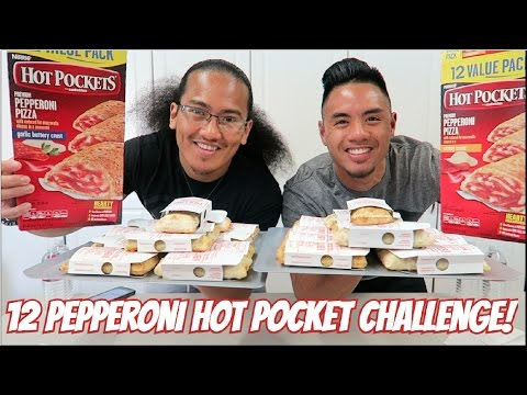 12 PEPPERONI HOT POCKET CHALLENGE! | 4000+ CALORIES