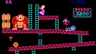 Donkey Kong 1981 - Arcade Gameplay