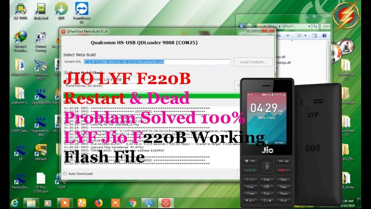 Flash Jio F220B By Qflash Tool [100%] | No Error | F220b Hang On Logo  Flashing | F220B DEAD RECOVER