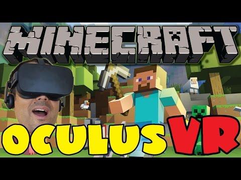 MINECRAFT EN REALIDAD VIRTUAL - Mi primera casa (de mierder) - Oculus Rift CV1