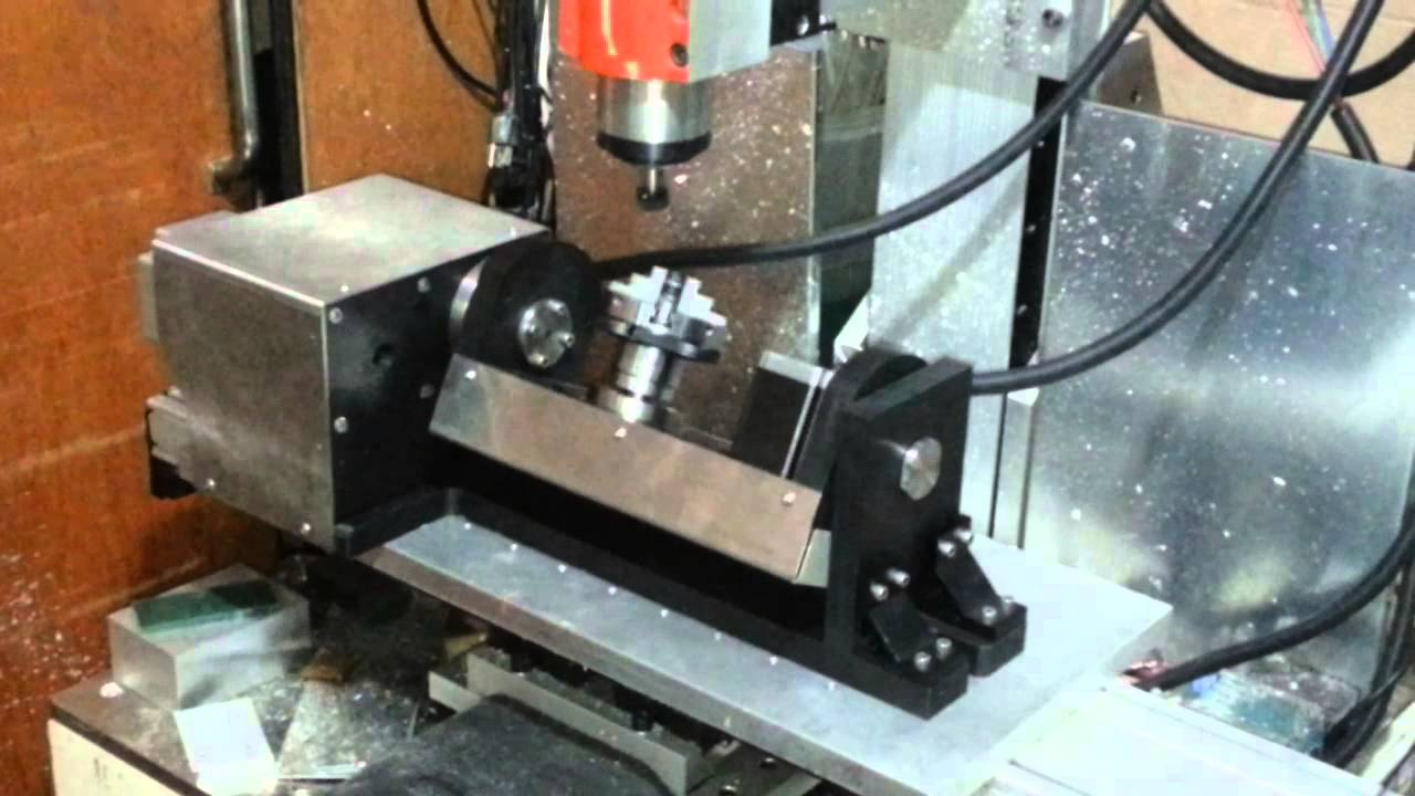 mini cnc 5 axis first run youtube