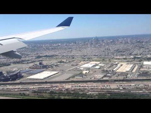 Final Approach+Landing At Philadelphia International Airport