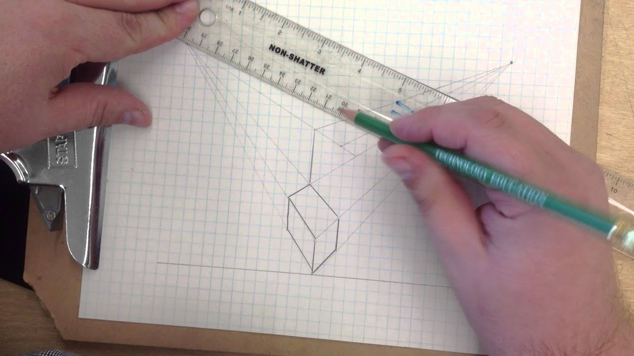 IED Activity 2.2 Two Point Perspective Puzzle Cube Piece - YouTube