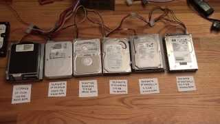 The Sound of Hard Drives Running at Various RPMs