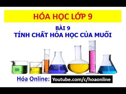 Hóa học 9 – Bài 9 – Tính chất hóa học của Muối