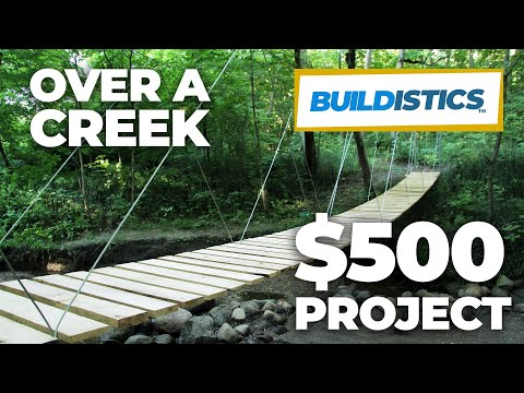 DIY Suspension Bridge - 54' Span