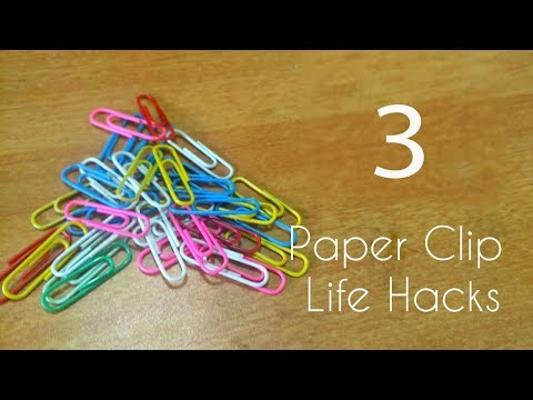 Best Life Hacks with Paper Clip for an easier life | 3 major Tech Hacks with paper pins