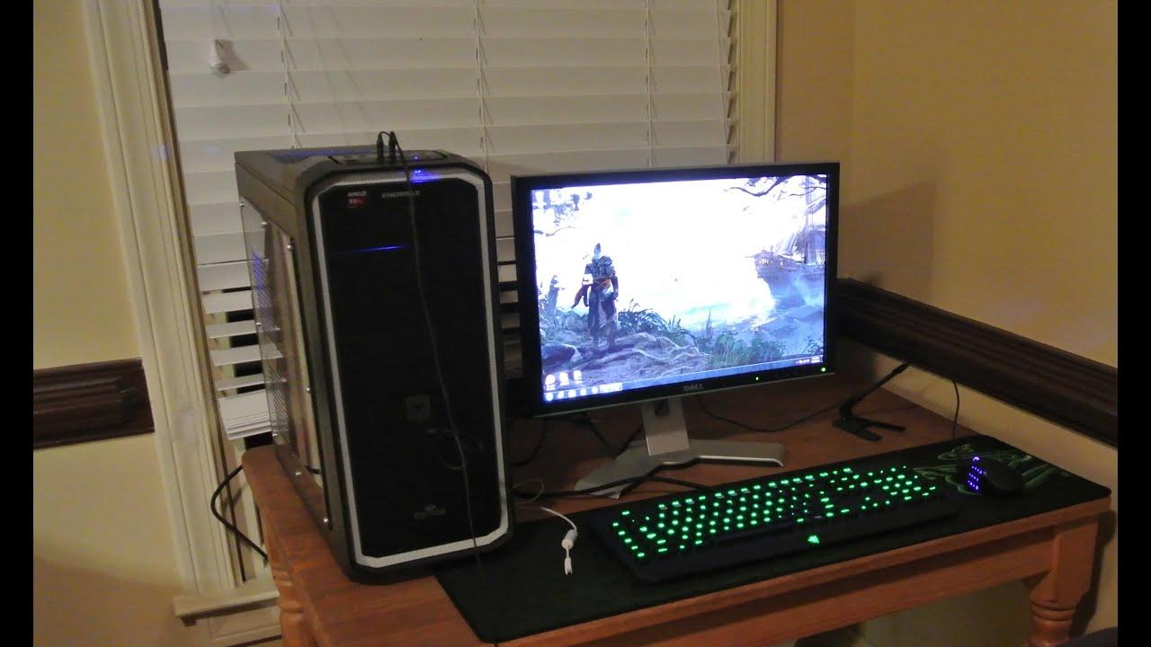 2014 Gaming Pc Setup 850 Rust Gameplay Test Youtube