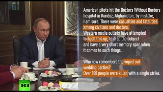 Putin: Western press hushed Kunduz MSF hospital carnage