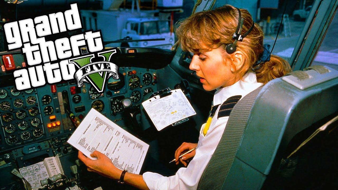 GTA 5 Gerçek Hayat,  - Uçak Eğitimi! #8
