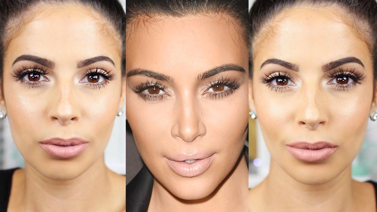 Kim Kardashian Makeup Tutorial 2015 Glowing Skin - YouTube