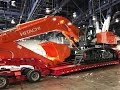 Hitachi Zaxis 870LC Excavator moving out of Conexpo 2017