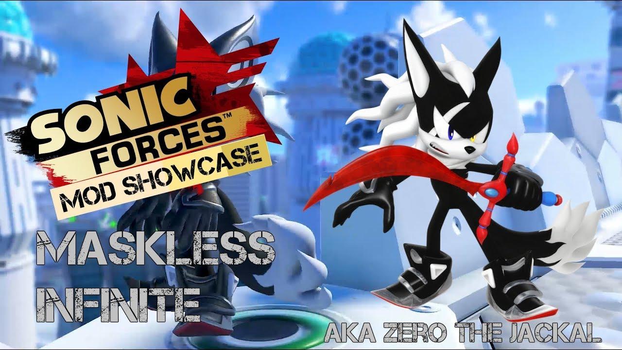 Mod Showcase Sonic Forces Maskless Infinite Character Mod Aka Zero The Jackal Youtube