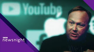 Infowars, tech giants and the responsibility of publishers  - BBC Newsnight