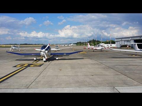 Charleroi EBCI to Rotterdam EHRD, Robin DR400, live ATC