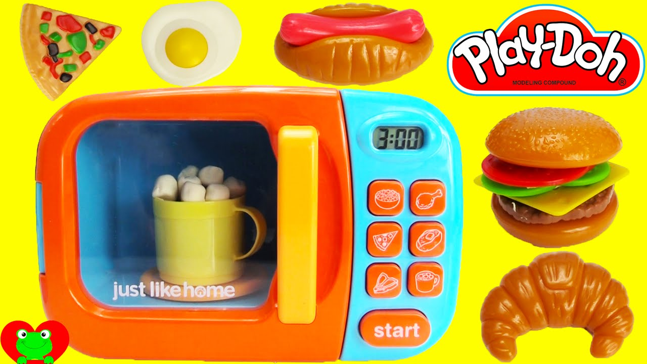 Just Like Home Toy Blender : Just like home realistic working microwave playset