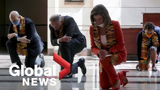 George Floyd death: Pelosi, Democrats kneel for 8 minutes 46 seconds to honour Floyd
