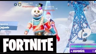 FORTNITE PT BR New Snow skin soldier scratchcard Gameplay friends playing #01
