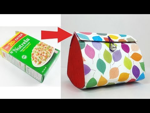 Beautiful Paper Purse Making from Waste Box - Easy best out of Waste Craft - Easy Gift Bag Making