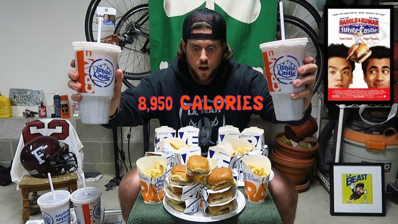 The Harold Kumar White Castle Challenge 8 950 Calories L A Beast