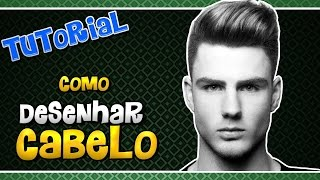 Tutorial cabelo Realista - how to Drawing realistic hair