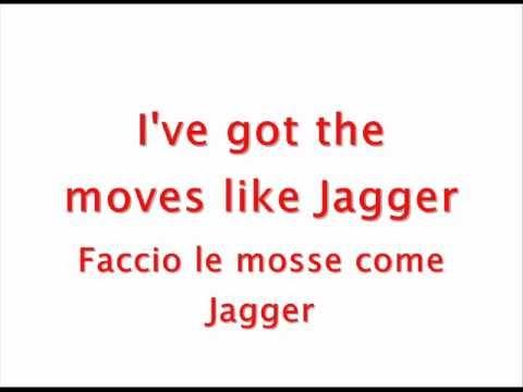 Maroon 5 ft. Christina Aguilera - Moves Like Jagger [TESTO, TRADUZIONE]