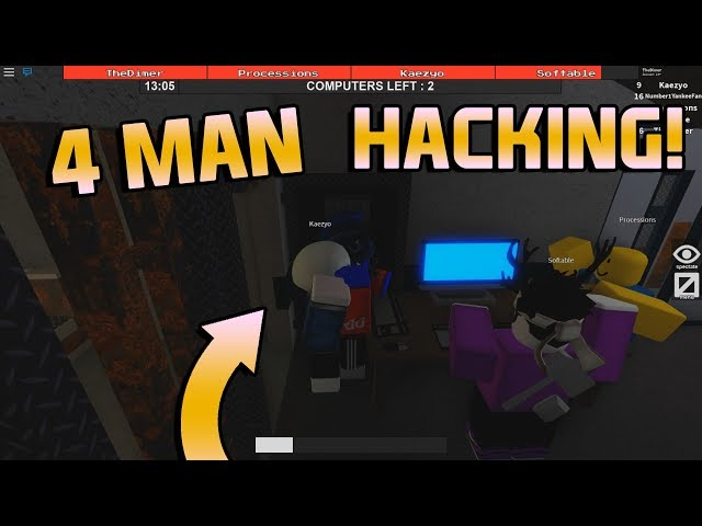 4 Man Hacking Flee The Facility Roblox Youtube - acrobat flee the facility roblox