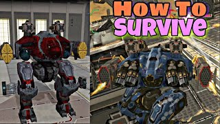 War Robots:- How To Survive From Starting To End_Free For All Mode || War Robots 2018