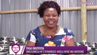 YIGA OKUYIIYA :Omusomesa e Kyambogo akola wine mu matooke