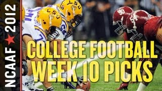 College Football Week 10 Picks Against the Spread: Alabama vs LSU Showdown Headlines Slate