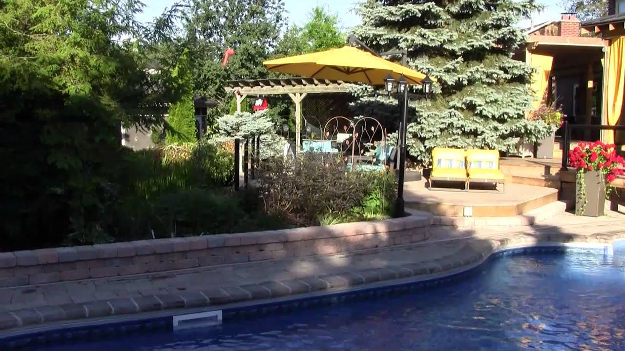 backyard landscaping ideas cabana