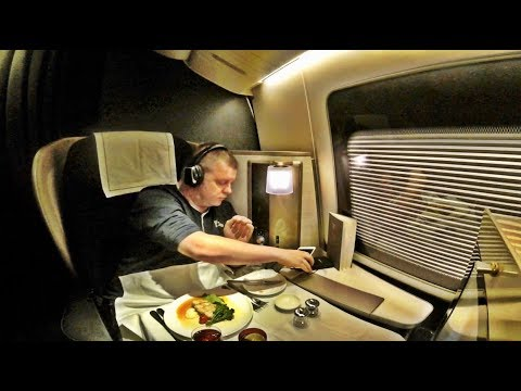 Thumbnail: BRITISH AIRWAYS FIRST CLASS Flight, Boeing 777-200 - Houston to London!