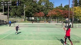 柳葉敏郎/佐藤(5年生)ペア 対 畠山/田口(6年生)ペア 3ゲームマッチ(ファ...