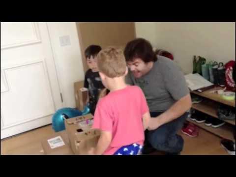 Jack Black's Kids Make Cardboard Arcade Inspired by Caine's Arcade