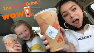 TRYING THE CHARLI DAMELIO DRINK AT DUNKIN