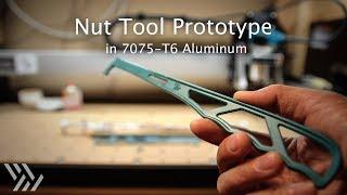 Rock Climbing Nut Tool Prototype in 7075 Aluminum - #129 [CNC]